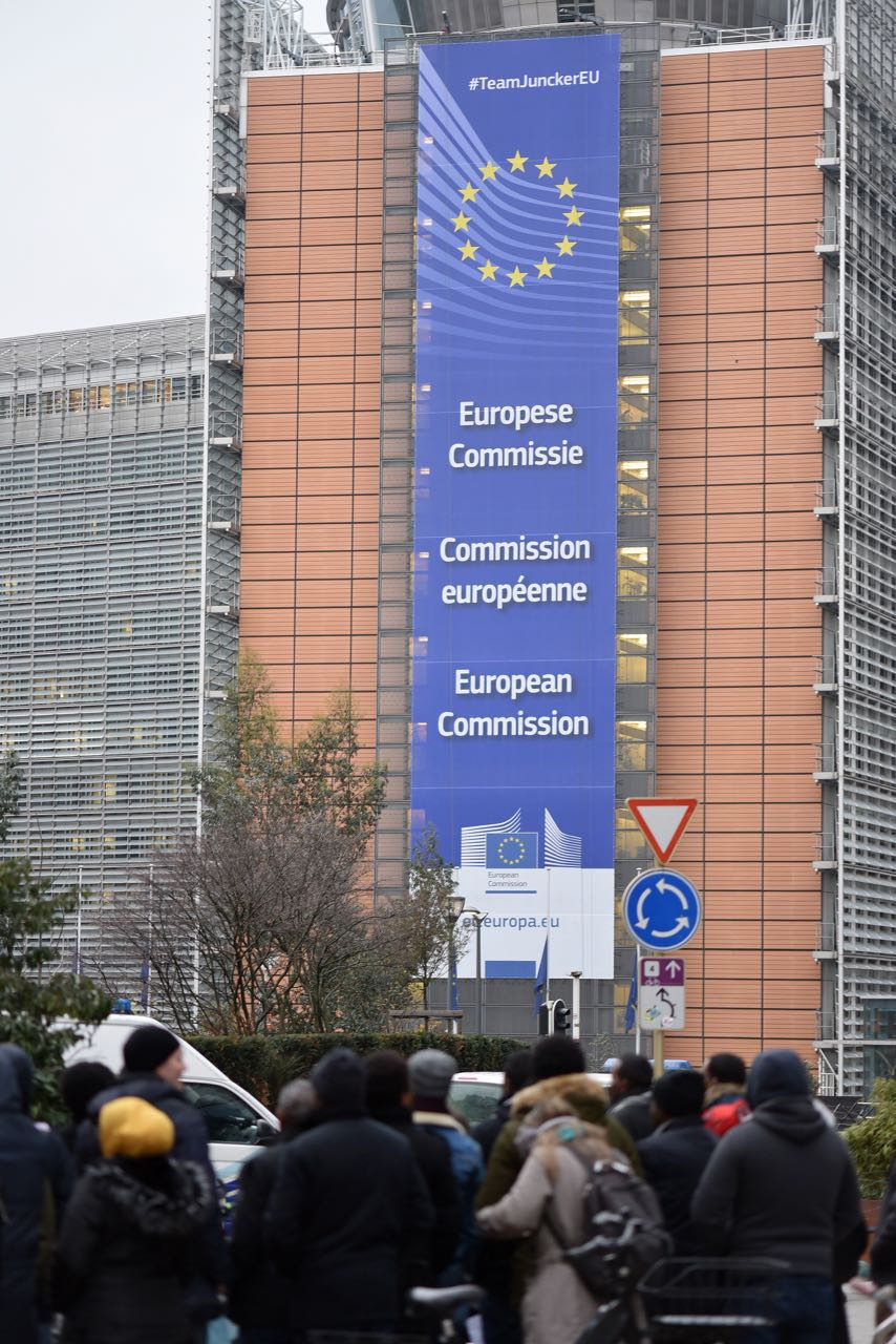 #ChangeInEritrea Assembly in front of EEAS demanding a reversal of EU policy