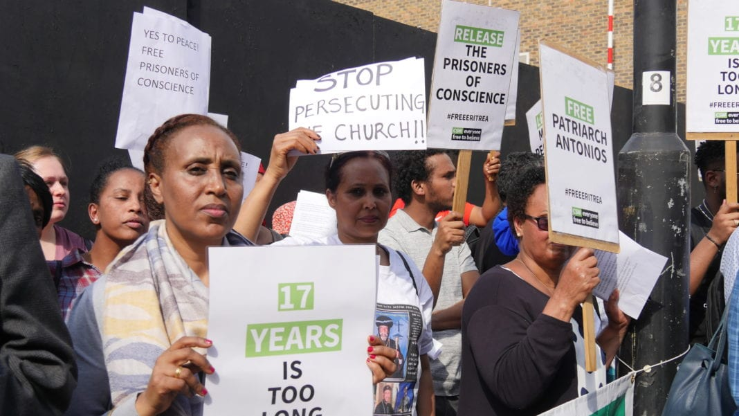 Eritreans protest against Christian arrests